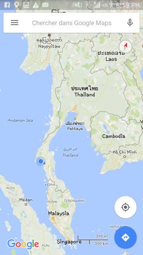 Krabi et la Thaïlande carte