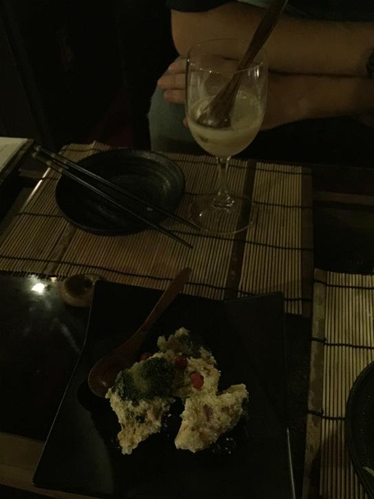 Tiramisù matcha et glace au saké façon colonel